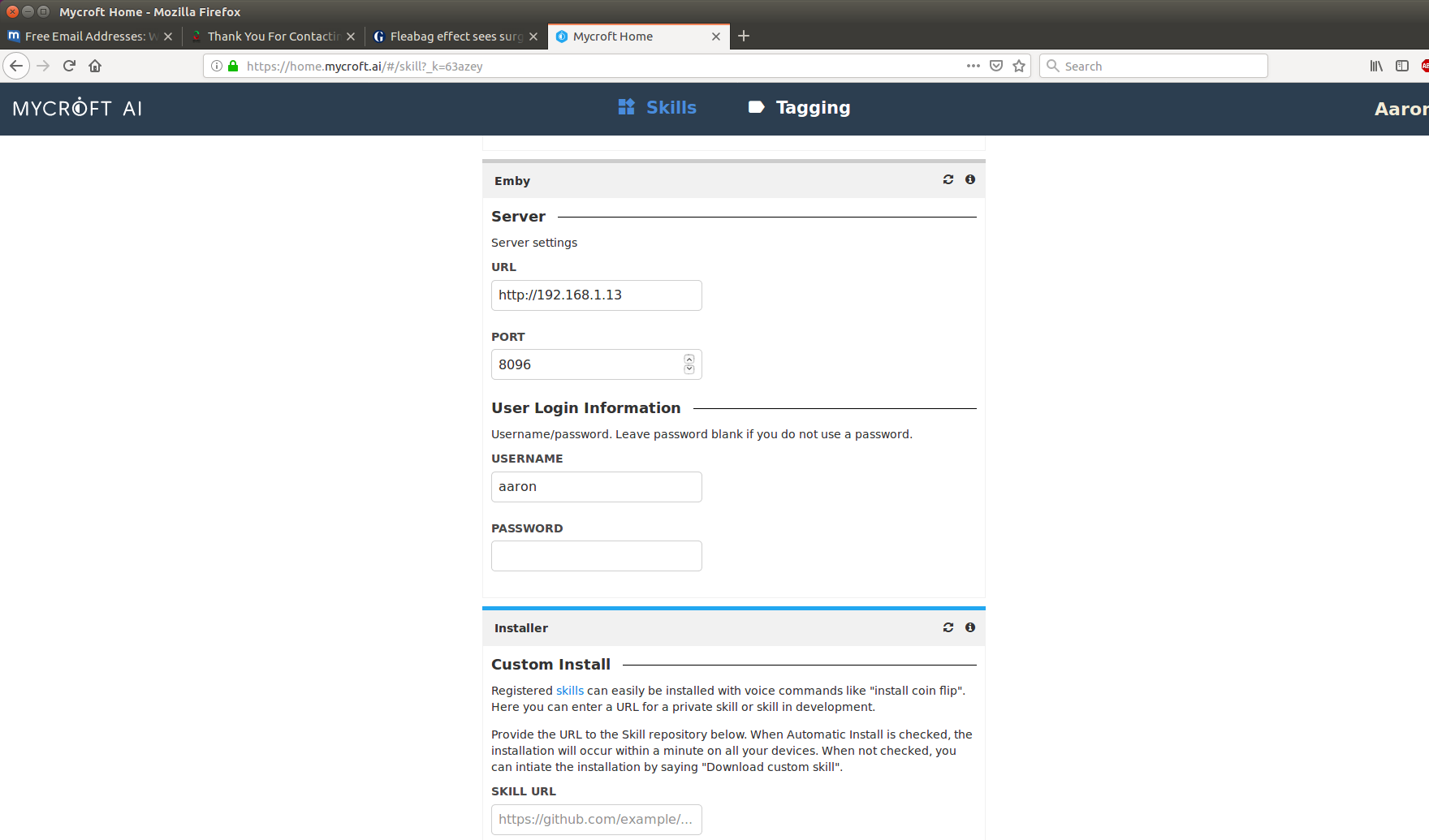 Configuring Emby server - General Discussion - Mycroft Community Forum
