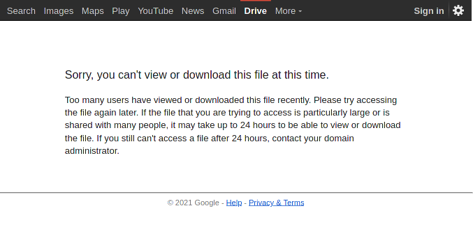 Screenshot_2021-02-21 Google Drive - Quota exceeded